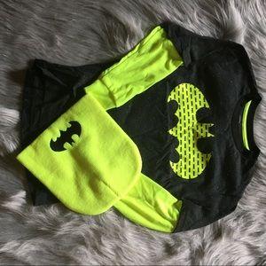 COPY - New Boys Batman Long Sleeve T-Shirt Hat Se…